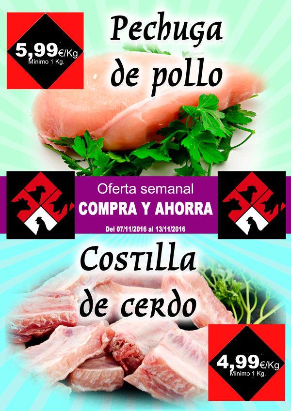 Carnicería Hermanos Casabona - Longaniza de Fuentes - Oferta - Pechuga de pollo y Costilla de cerdo - semana 45.2016