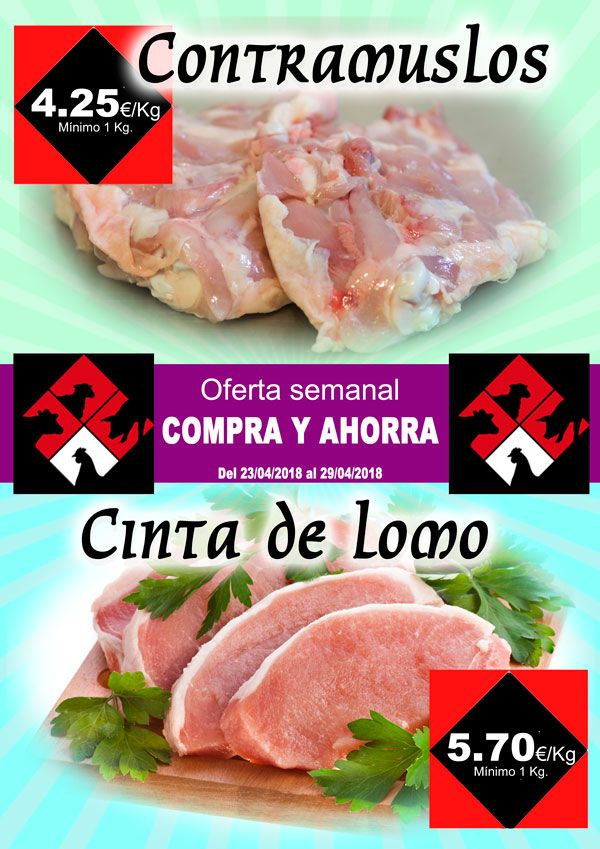 Carnicería Hermanos Casabona - Longaniza de Fuentes - Oferta - Contramuslos y Cinta de lomo - semana 17.2018