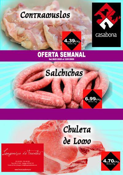 Carnicería Hermanos Casabona Oferta Contramuslos Salchichas y Chuleta de Lomo semana 02.2020