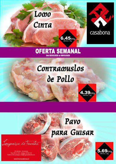 Carnicería Hermanos Casabona Oferta Lomo Cinta Contramuslos de Pollo y Pavo para Guisar semana 10.2020