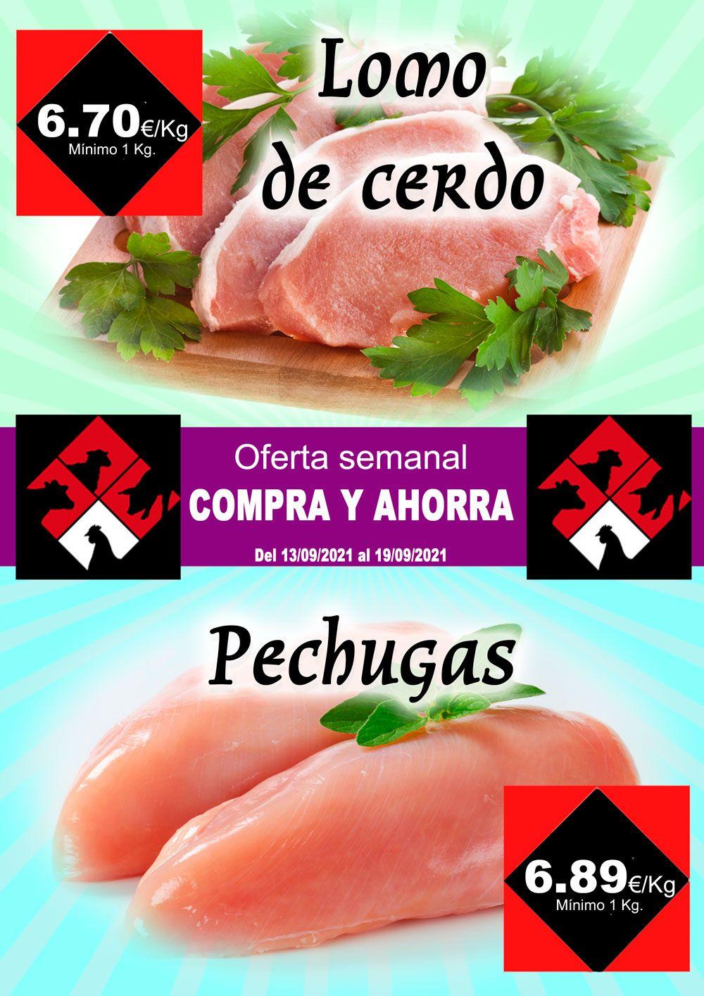 Carniceria Hermanos Casabona Oferta Lomo de cerdo y Pechugas semana 37.2021